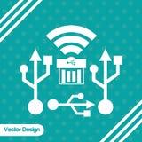 Diseño del icono de la tecnología Imagen de archivo libre de regalías