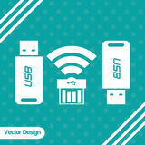 Diseño del icono de la tecnología Fotografía de archivo libre de regalías