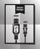 Diseño del icono de la tecnología Fotografía de archivo