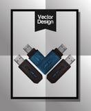 Diseño del icono de la tecnología Foto de archivo