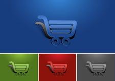 Diseño del icono de las compras del web Foto de archivo libre de regalías