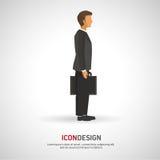 Diseño del icono de los empresarios Imagenes de archivo