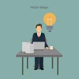 Diseño del icono de los empresarios Fotografía de archivo libre de regalías