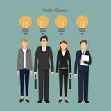 Diseño del icono de los empresarios Fotografía de archivo