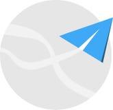 Diseño del icono del avión de aire Fotos de archivo libres de regalías