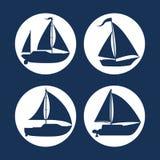 Diseño del icono del barco ilustración del vector