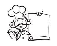 Diseño del icono del cocinero Fotografía de archivo