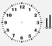 Diseño del icono del espacio en blanco de la cara de reloj Fotografía de archivo
