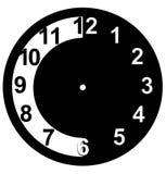 Diseño del icono del espacio en blanco de la cara de reloj Fotos de archivo
