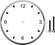 Diseño del icono del espacio en blanco de la cara de reloj Foto de archivo libre de regalías