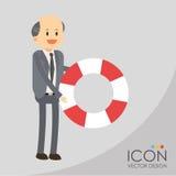Diseño del icono del seguro Imagen de archivo libre de regalías