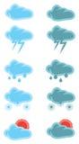 Diseño del icono del vector del tiempo de las nubes Fotografía de archivo libre de regalías