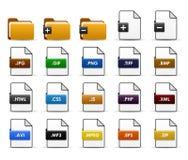 Diseño del icono del Web de la carpeta de fichero Foto de archivo