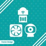 Diseño del icono del webcam Fotos de archivo libres de regalías