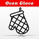 Diseño del icono del vector del guante del horno stock de ilustración
