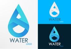 Diseño del infinito del agua del logotipo Fotos de archivo