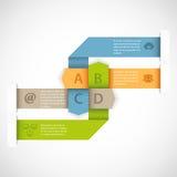 Diseño del infographics de la flecha Foto de archivo libre de regalías