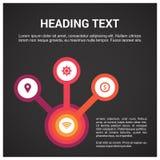 Diseño del infographics de los pasos con vector único del diseño ilustración del vector