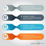 Diseño del infographics de los pasos con vector único del diseño libre illustration