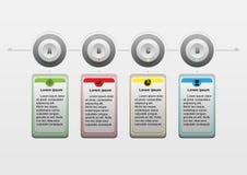 Diseño del infographics del vector e iconos del negocio Fotos de archivo libres de regalías