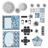 Diseño del jardín del paisaje ilustración del vector