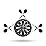 diseño del jugador de dardos stock de ilustración