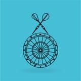 diseño del jugador de dardos ilustración del vector
