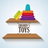 Diseño del juguete, niñez y concepto del juego Imagen de archivo libre de regalías
