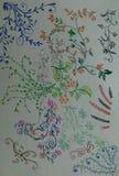Diseño del lápiz del color Imágenes de archivo libres de regalías