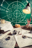 Diseño del laboratorio del vintage de piezas mecánicas fotografía de archivo