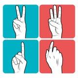 diseño del lenguaje de signos stock de ilustración