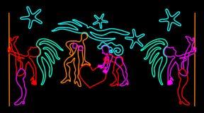 Diseño del letrero del club de noche Fotos de archivo