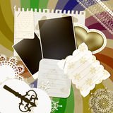 Diseño del libro de recuerdos con el fondo retro, vendimia k Imagen de archivo libre de regalías
