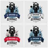 Diseño del logotipo del astronauta del astronauta ilustración del vector