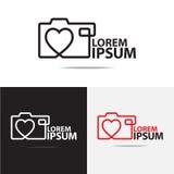 Diseño del logotipo de la cámara Imagen de archivo
