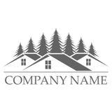 Diseño del logotipo de la construcción de viviendas Fotografía de archivo