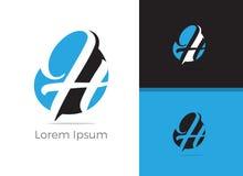 Diseño del logotipo de la letra de Tool H del mecánico, icono del vector de la letra h imágenes de archivo libres de regalías