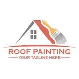 Diseño del logotipo de la pintura de casa Imagenes de archivo