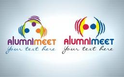 Diseño del logotipo de la reunión de los alumnos stock de ilustración
