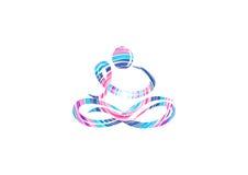 Diseño del logotipo de la yoga imagen de archivo
