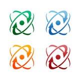 Diseño del logotipo de los anillos del web de la órbita de la tecnología Anillo del círculo del vector libre illustration