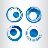 Diseño del logotipo de los anillos del web de la órbita de la tecnología Anillo del círculo del vector ilustración del vector