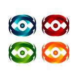 Diseño del logotipo de los anillos del web de la órbita de la tecnología Anillo del círculo del vector stock de ilustración