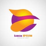 Diseño del logotipo del ciclo Imagen de archivo