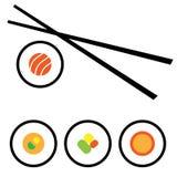 Diseño del logotipo del sushi del vector Foto de archivo libre de regalías