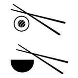 Diseño del logotipo del sushi del vector Fotos de archivo