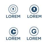 Diseño del logotipo del icono de g de la letra de la ubicación del radar del ejemplo del vector libre illustration