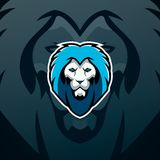 Diseño del logotipo del león Ejemplo de moda del logotipo del deporte Fotografía de archivo