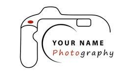 Diseño del logotipo del negocio de la fotografía stock de ilustración