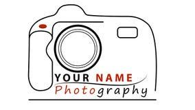Diseño del logotipo del negocio de la fotografía ilustración del vector